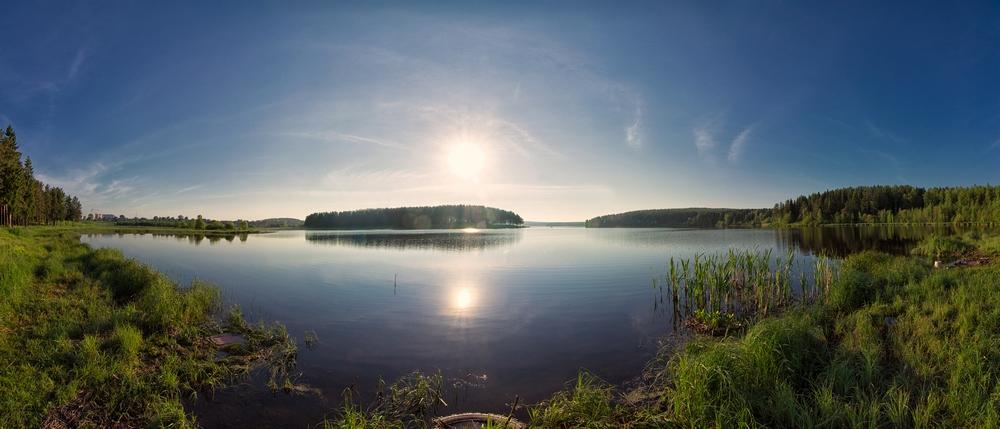 """фото """"Запрудный"""" метки: пейзаж, природа, путешествия, Нижний Тагил, вода, лес, лето, облака"""