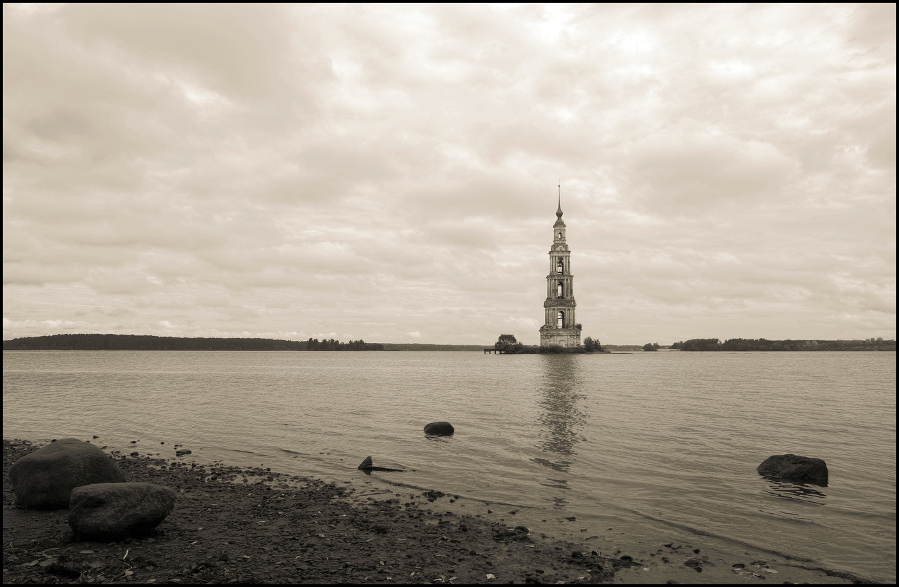 """фото """"Калязин"""" метки: пейзаж, архитектура, вода, храм"""