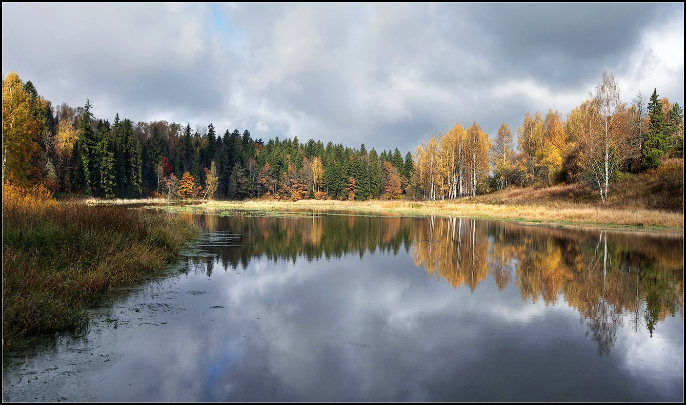 """photo """"gold autumn"""" tags: landscape, nature, panoramic,"""