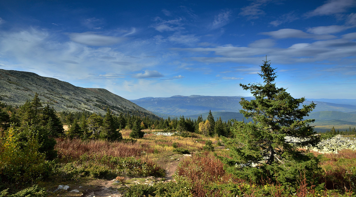 """фото """"***"""" метки: пейзаж, Южный Урал, горы, небо, облака, сентябрь"""
