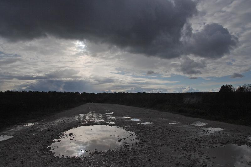 """фото """"Русский путь"""" метки: , Подмосковье, закат, облака, осень"""