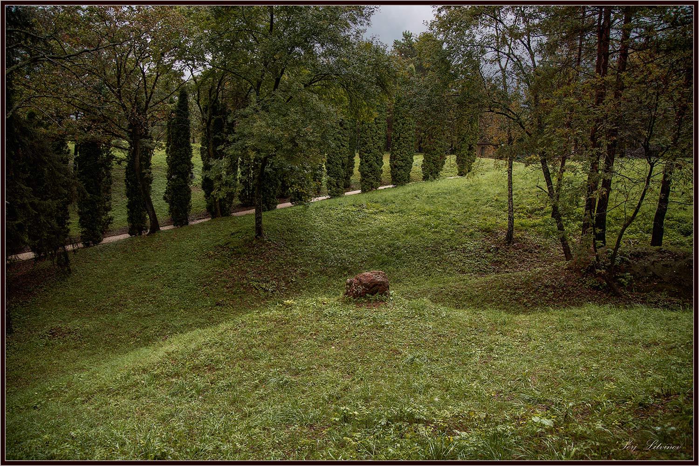 "фото ""Старый парк..."" метки: пейзаж, дождь, осень, парк"