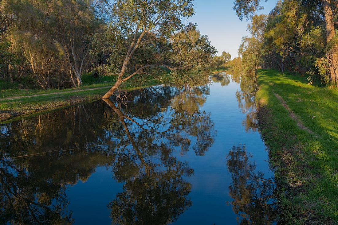 "фото ""Evening reflections"" метки: пейзаж, blue, forest, reflection, trees, вода, озеро, река"