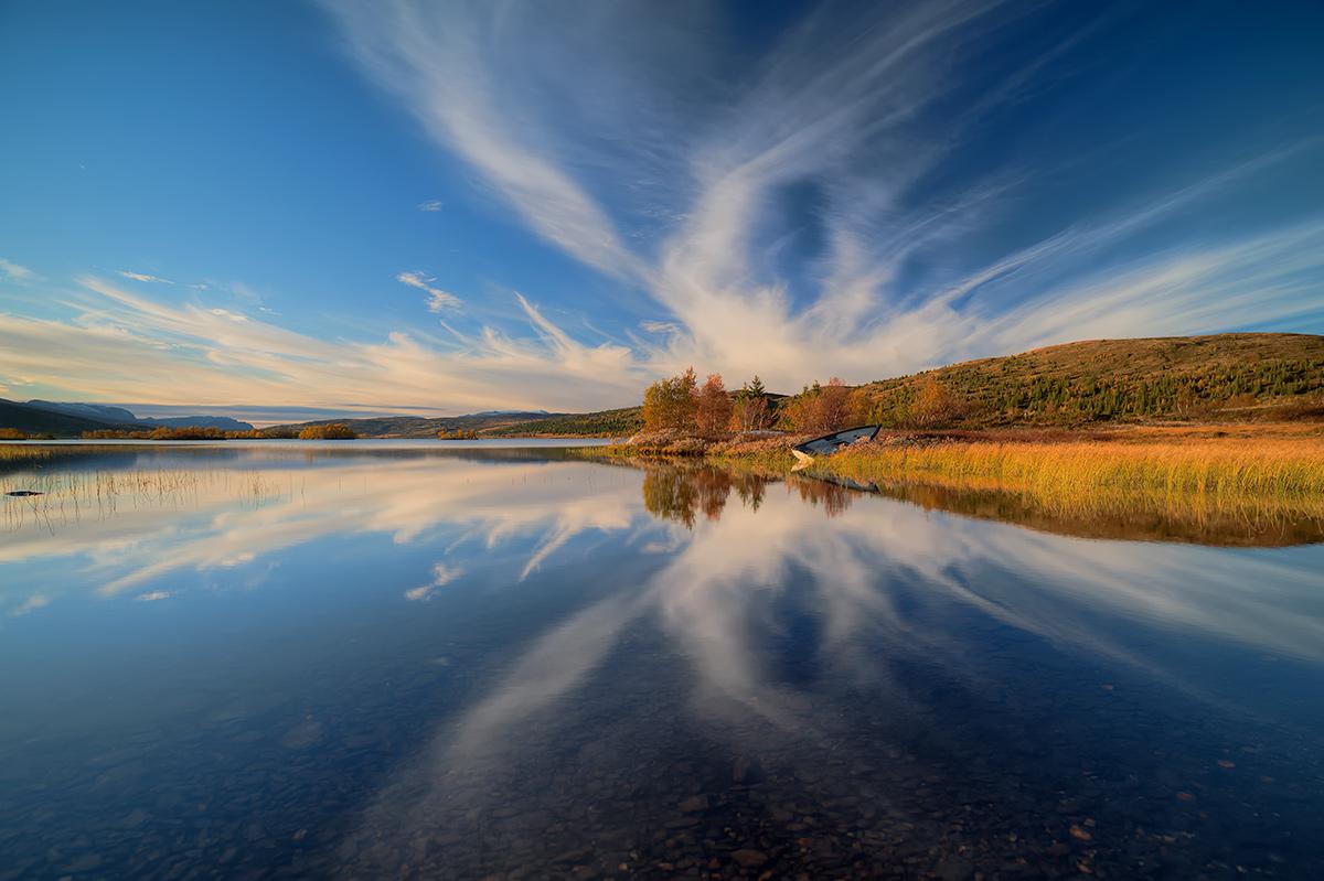 """фото """"***"""" метки: пейзаж, Europe, Norway, forest, вода, облака, осень"""
