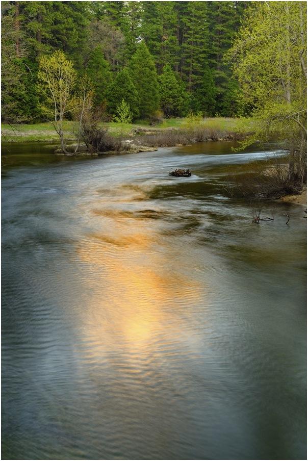"фото ""отражение заката"" метки: пейзаж, весна, вода, горы, закат, река"
