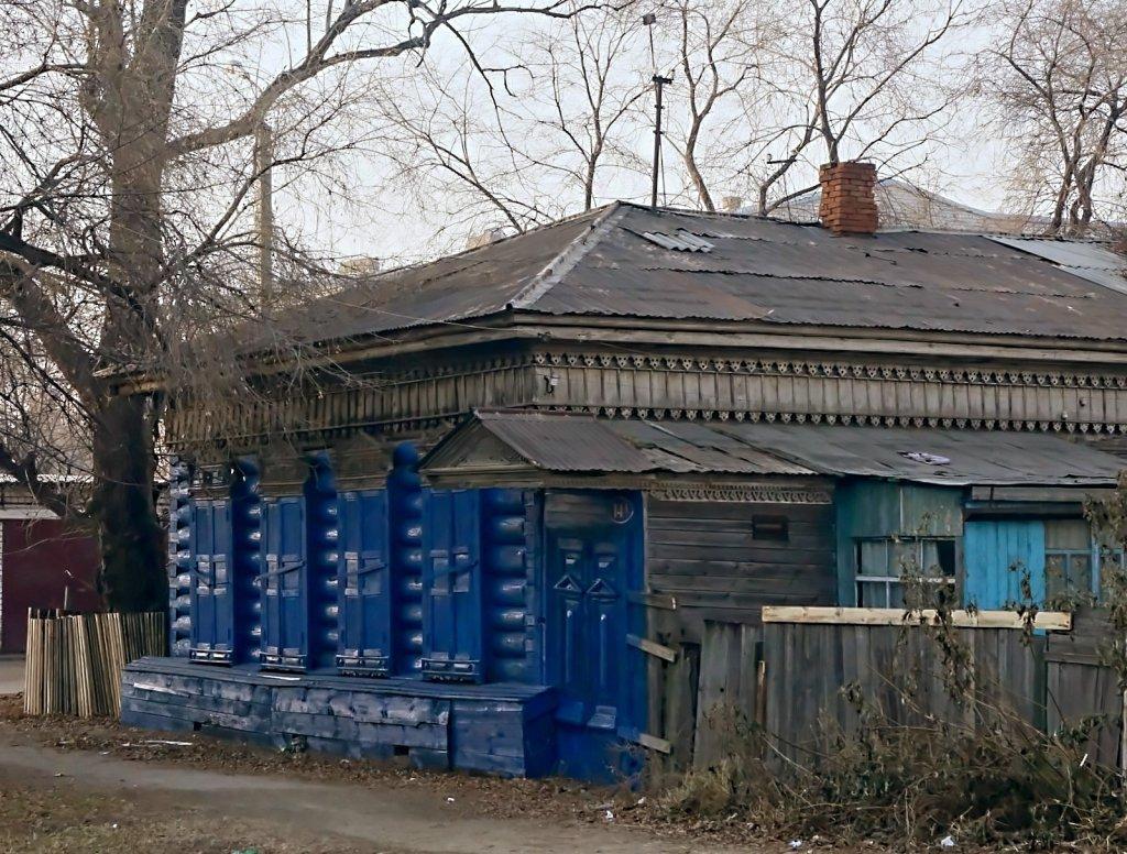 """фото """"Синий фасад"""" метки: город, Cтарый Благовещенск"""