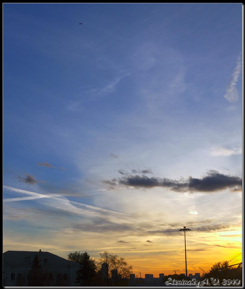 "фото ""Всполохи уходящего дня"" метки: пейзаж, природа, разное, закат, лето, облака"