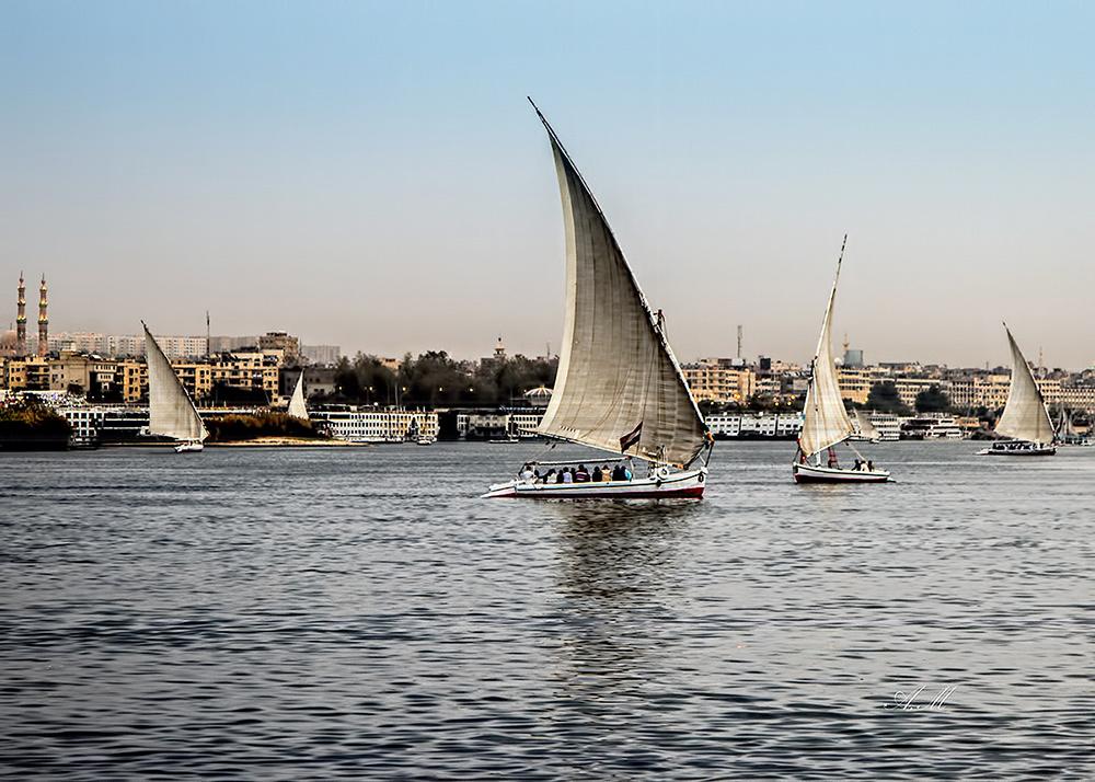 "фото ""Sailing on the nile"" метки: пейзаж,"