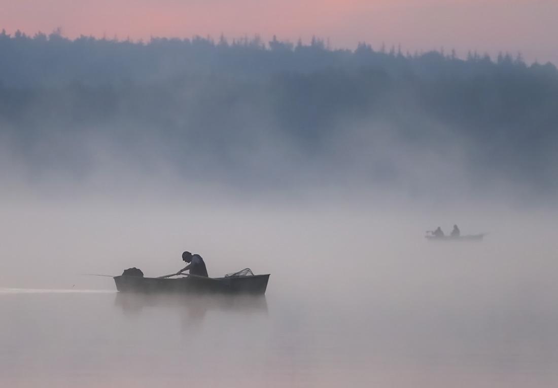 """фото """"Ловись рыбка мала и велика..."""" метки: пейзаж, природа, репортаж, рассвет, рыбацкие будни, туман"""