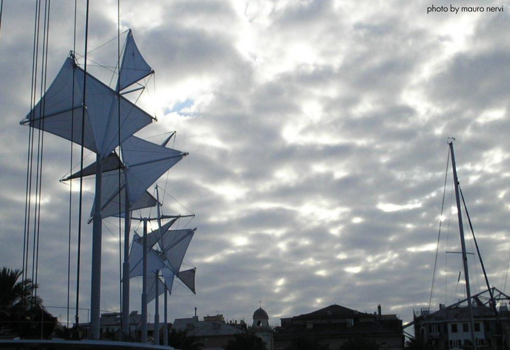 "фото ""Genoa, old port, the sails, project by Renzo Piano"" метки: репортаж,"