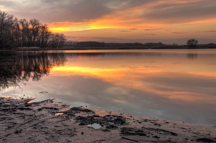 "фото ""***"" метки: пейзаж, Днепр, Запорожье, Украина, закат, залив"