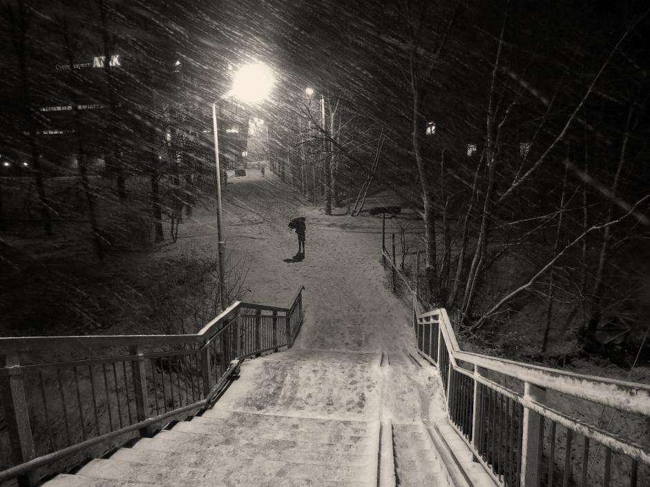 """фото """"Первый снег"""" метки: пейзаж, город,"""