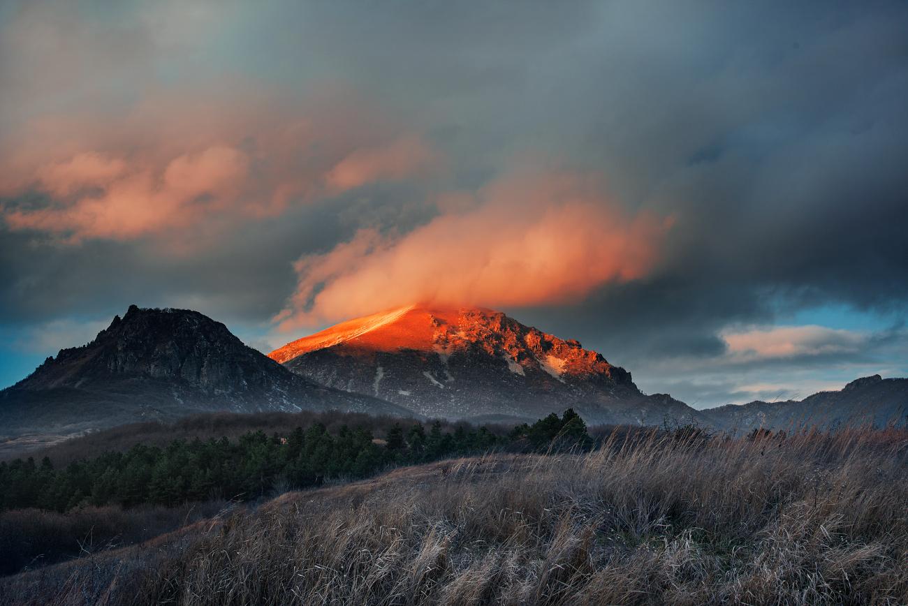 """фото """"Осень помахала на прощанье алым лоскутком заката..."""" метки: пейзаж,"""
