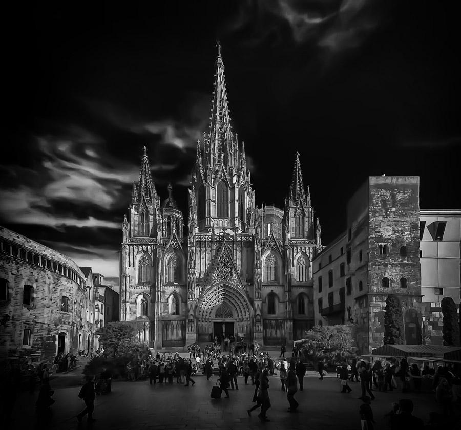 Барселона черно белые картинки