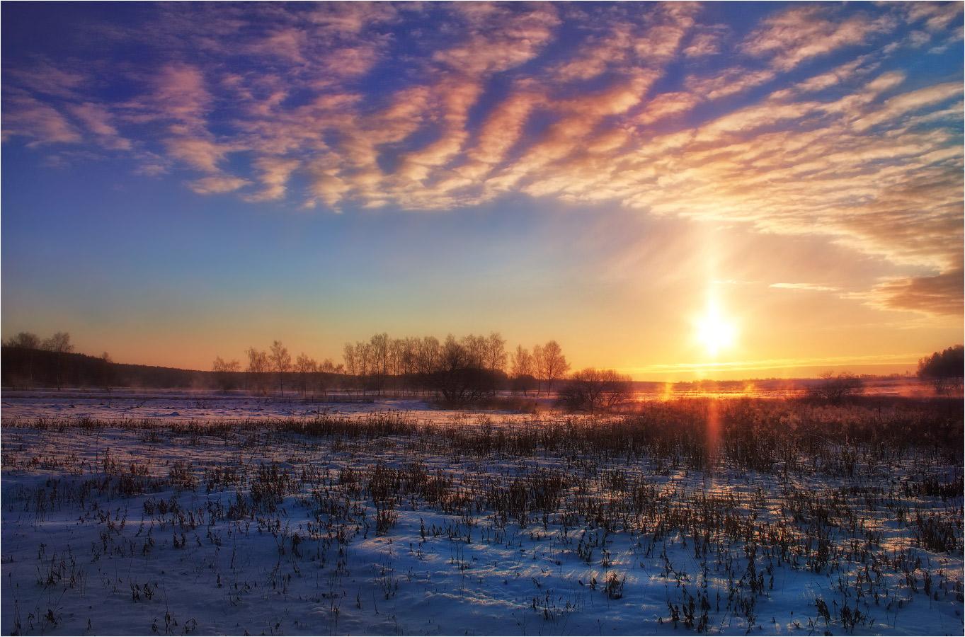 восход зимой фото иногда