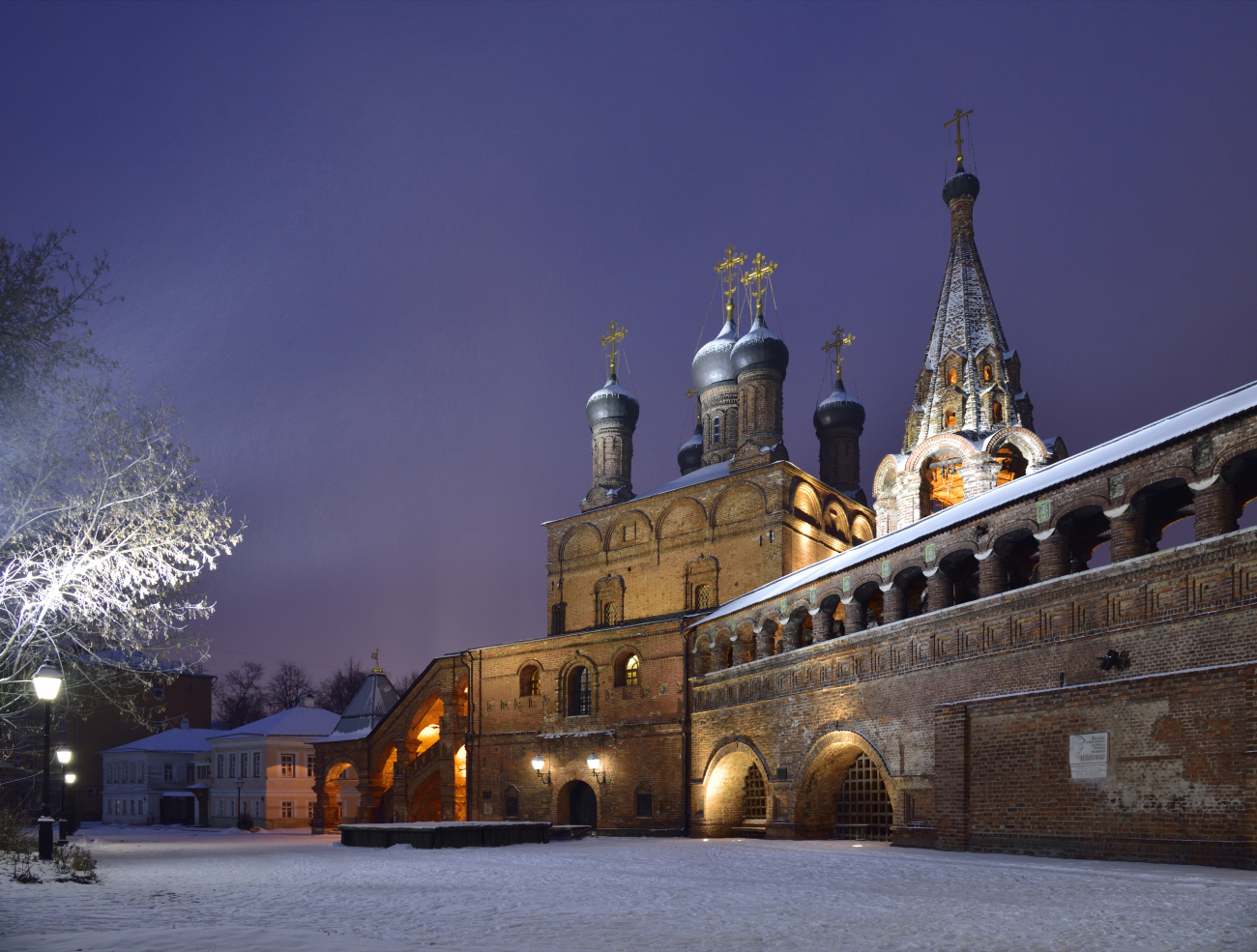 "photo ""***"" tags: architecture, city, Moscow, evening, temple, winter, церкви"