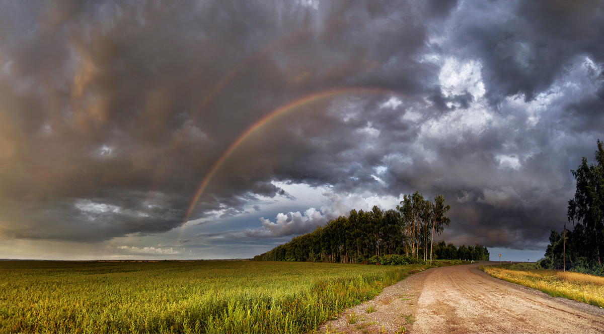 """photo """"***"""" tags: landscape, clouds, road, summer, гроза"""