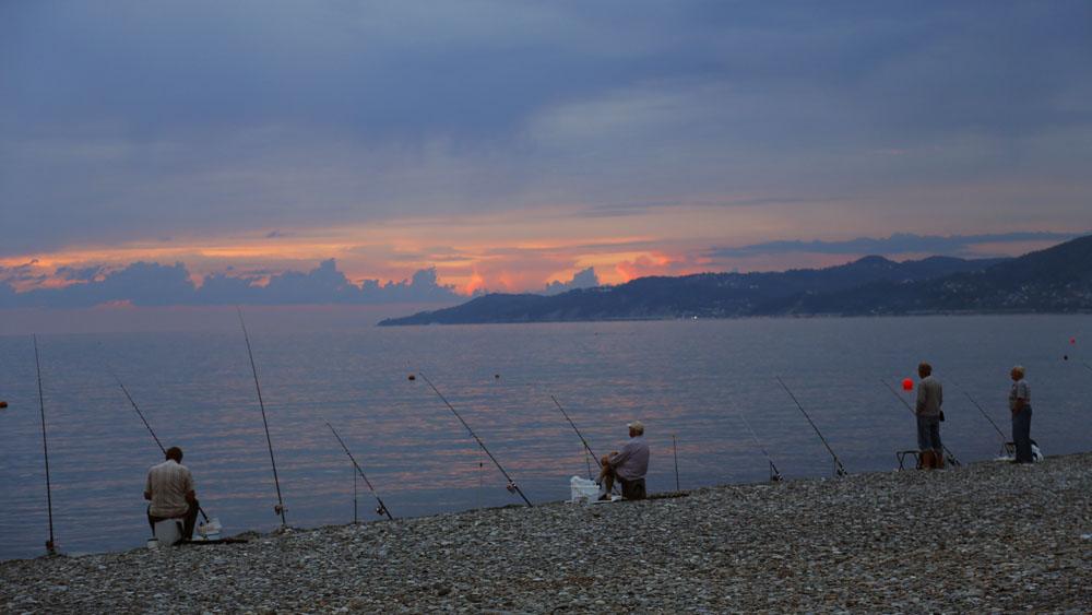 моне рыбаки на сене