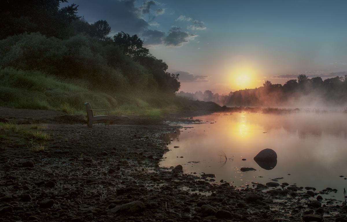 "photo ""***"" tags: landscape, morning, river, summer, медитация"