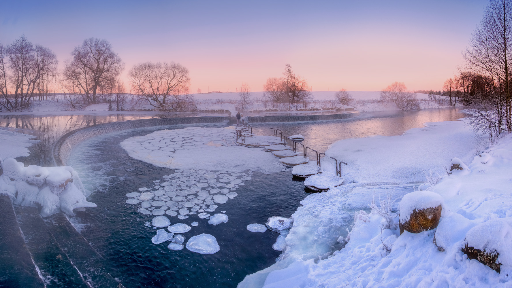 "photo ""***"" tags: panoramic, landscape, nature, lake, park, sky, snow, water, Беларусь, Минск"