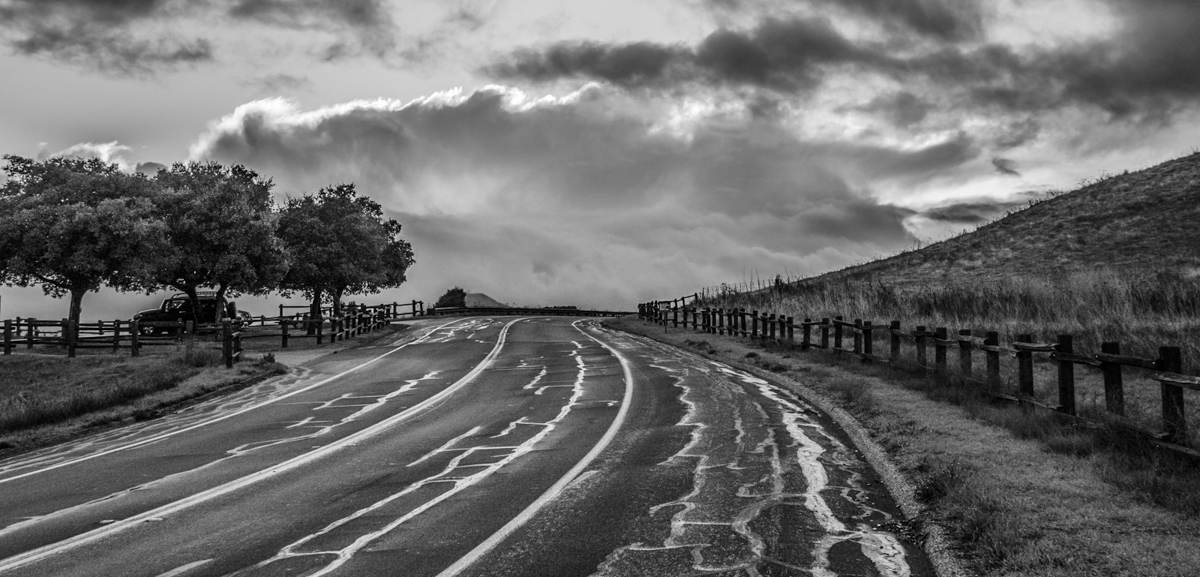 "photo ""После дождя"" tags: black&white, landscape,"