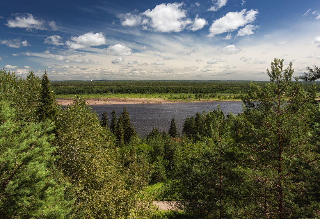 "photo ""***"" tags: landscape, Берега река Кама лес зелень пр"