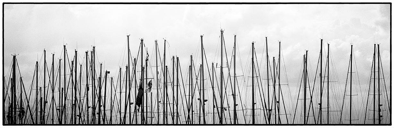 """photo """"Yacht Club"""" tags: travel, black&white,"""