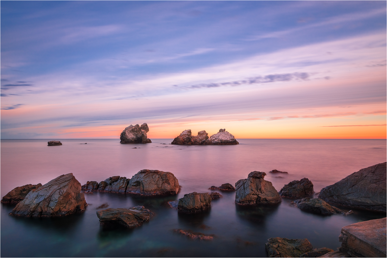 "photo ""***"" tags: landscape, travel, Crimea, Russia, autumn, clouds, sea, sky, sunset, water, волны"