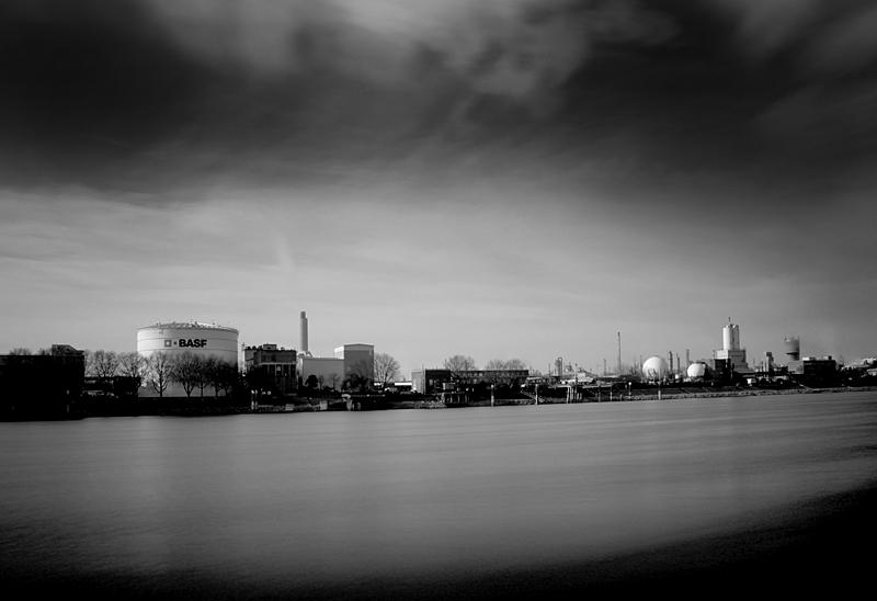 "photo ""BASF"" tags: landscape, black&white, Europe, Industry, germany"