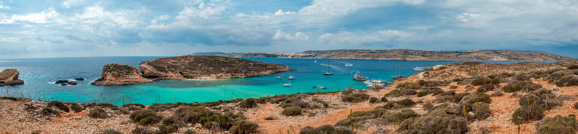 "photo ""Blue Lagoon in Comino Island"" tags: panoramic, travel, landscape,"
