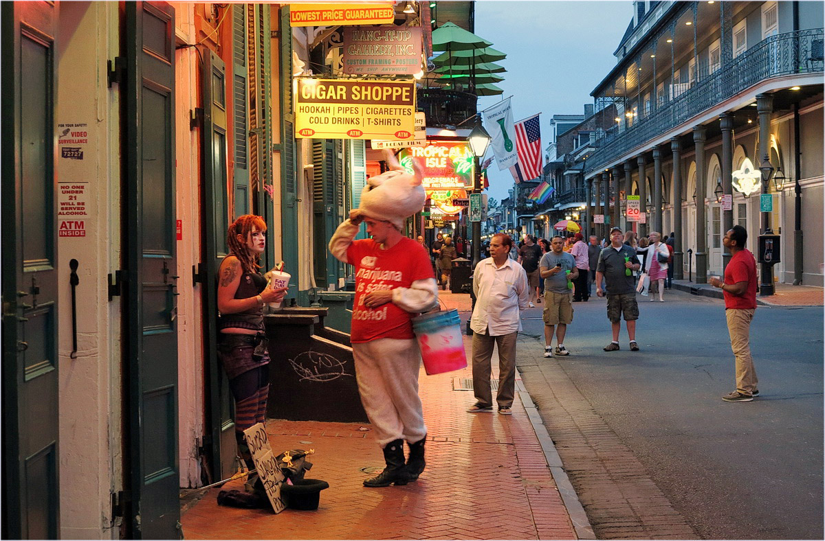 "photo ""Bourbon street"" tags: street,"