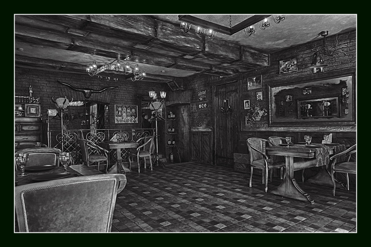 """photo """"Guests will soon arrive"""" tags: black&white,"""