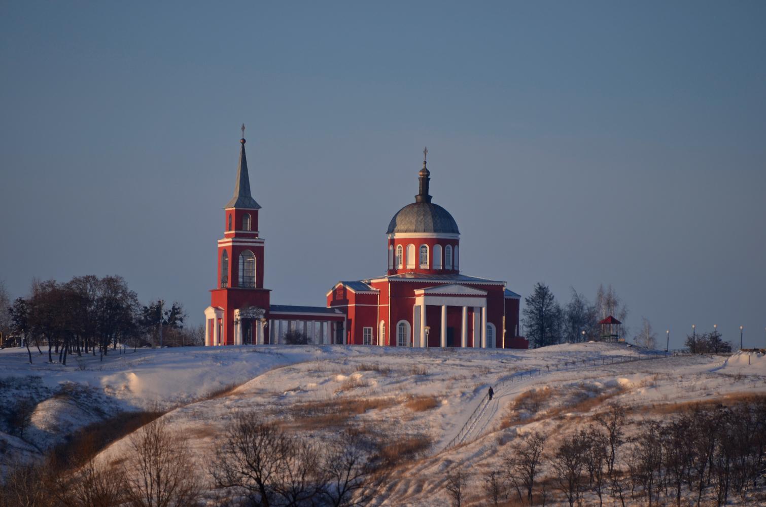 "photo ""***"" tags: landscape, temple, winter, Хотмыжск"