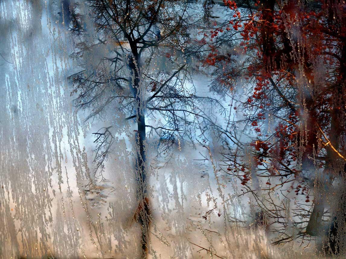 """photo """"Window in winter"""" tags: digital art, winter, окно"""