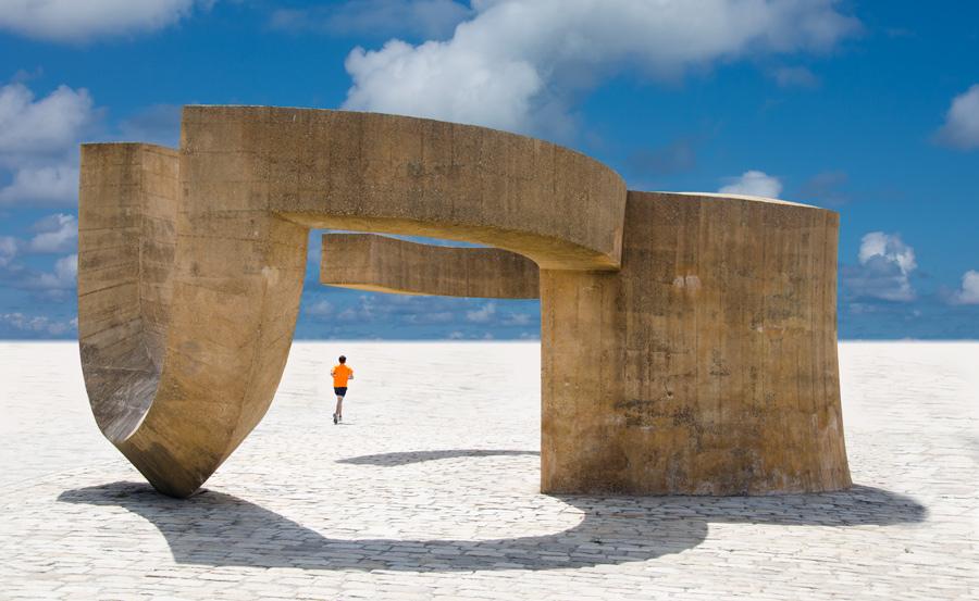 """photo """"Die Einsamkeit des Langstrekenläufers"""" tags: digital art, Abstract, Europe, Landscape"""