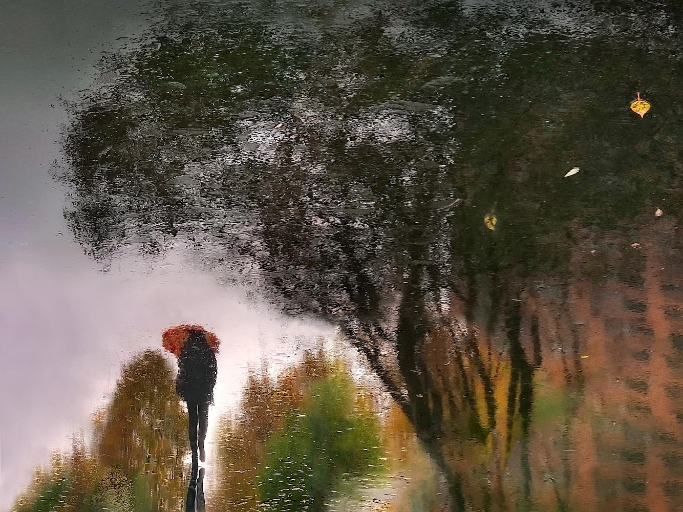 "photo ""***"" tags: street, abstract, landscape, отражение на мокром асфальте"