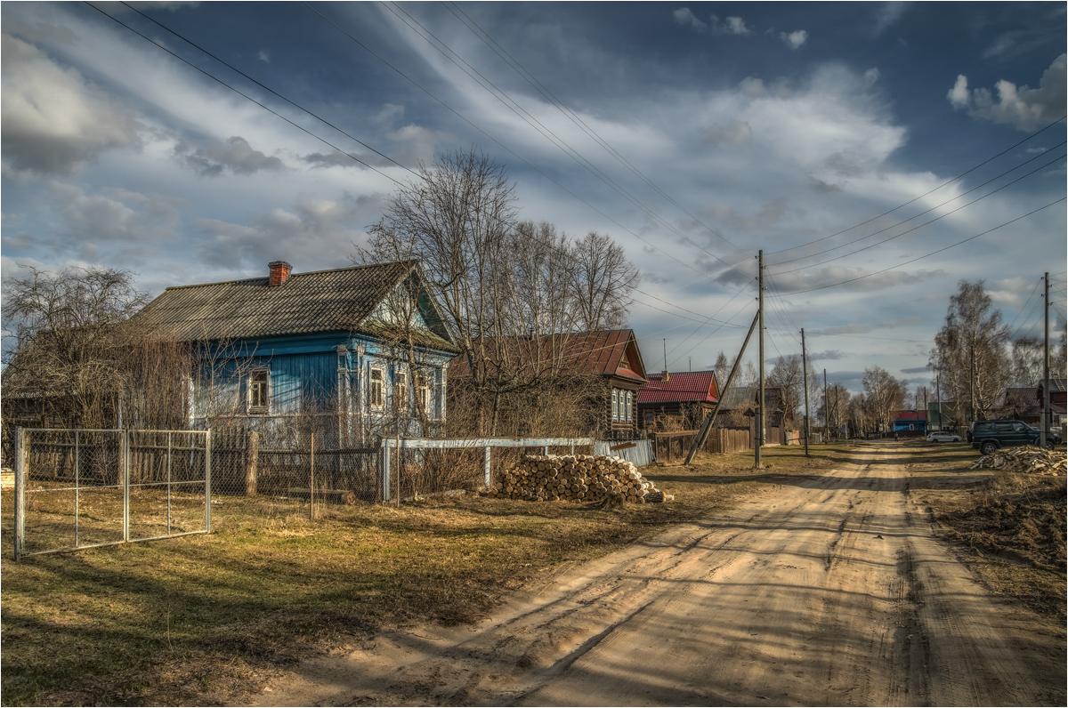 Фото весна в деревне на рабочий стол