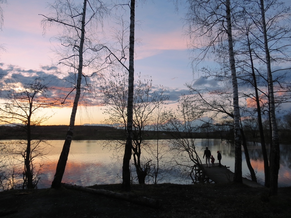 """photo """"April evening"""" tags: landscape,"""