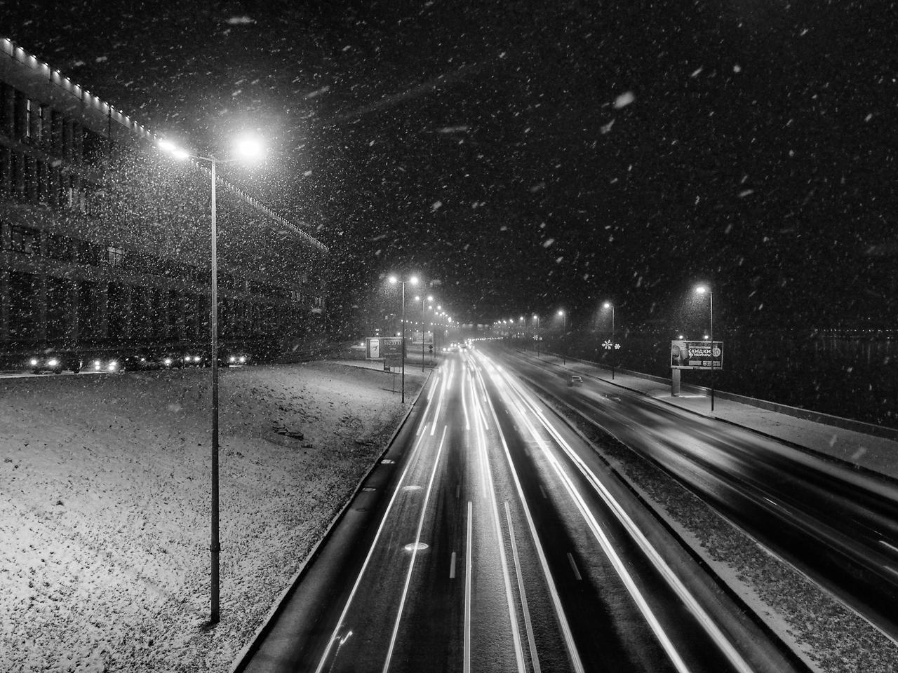 "photo ""***"" tags: landscape, city, autumn, evening, Петербург, первый снег"