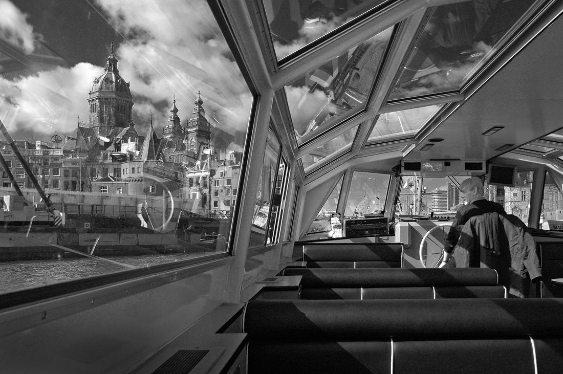"photo ""***"" tags: travel, street, black&white, Амстердам"