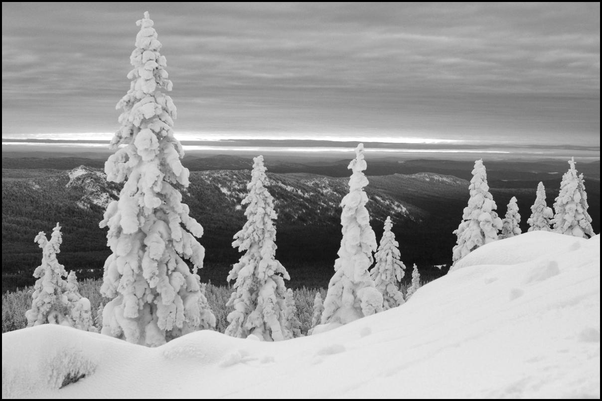 "photo ""***"" tags: nature, black&white, mountains, winter, Таганай, южныйурал"
