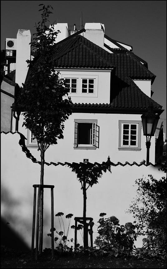 """photo """"На Кампе-3"""" tags: black&white, Prag, Prague, Praha"""
