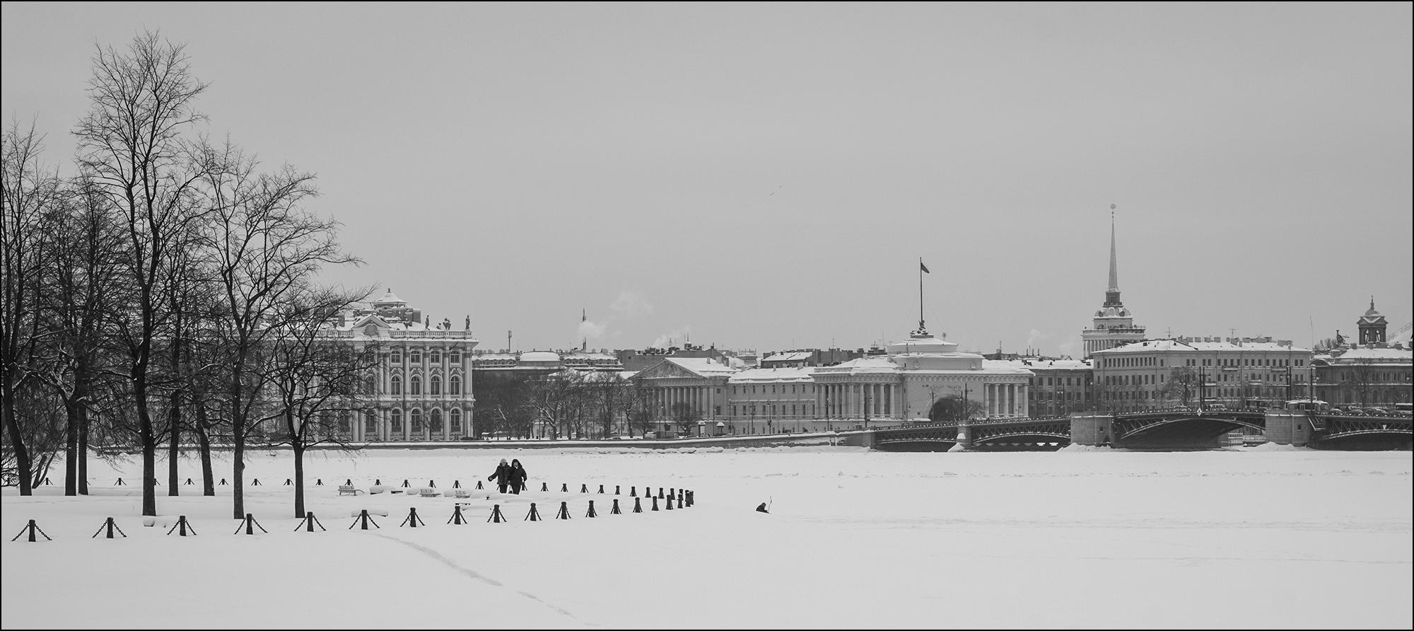 "photo ""* * *"" tags: city, St. Petersburg, winter, Нева"