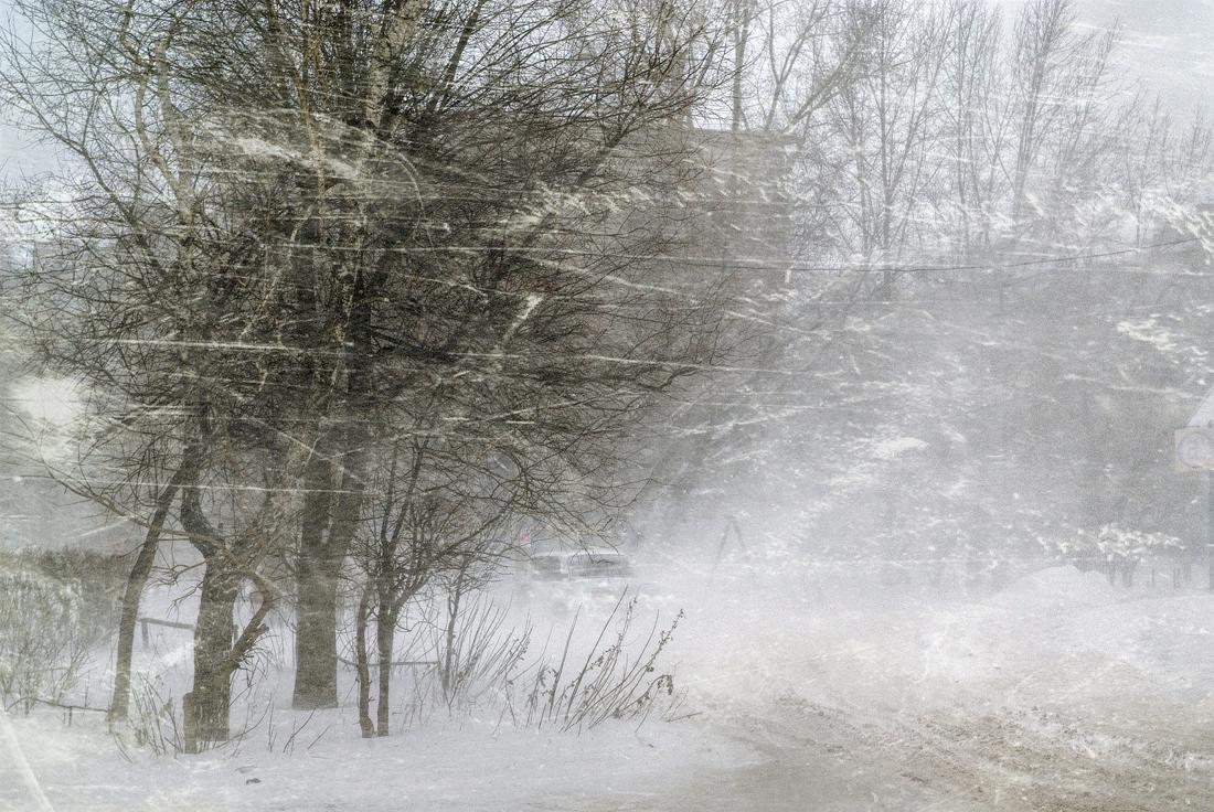 "фото ""Вьюга"" метки: город, digital art, пейзаж, зима"