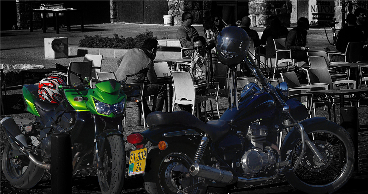 "photo ""Bikes and bikers"" tags: travel, street,"