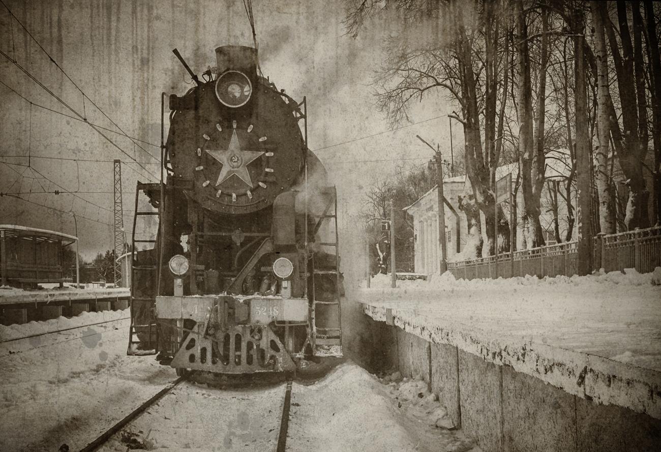 "photo ""***"" tags: technics, winter, Гатчина, Паровоз"