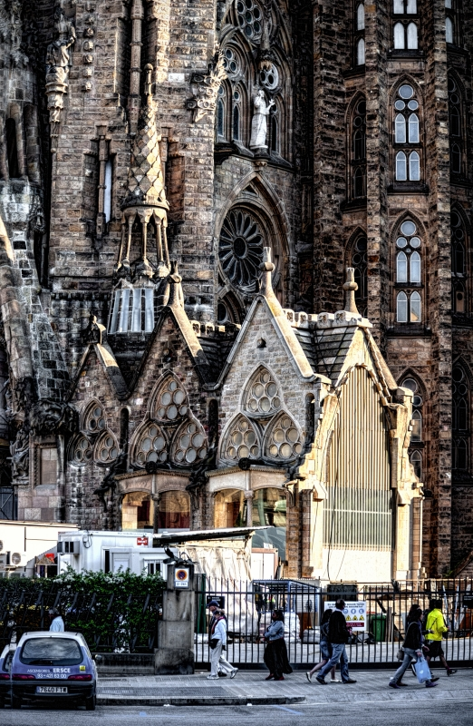 """photo """"Barcelona's diversity"""" tags: old-time,"""