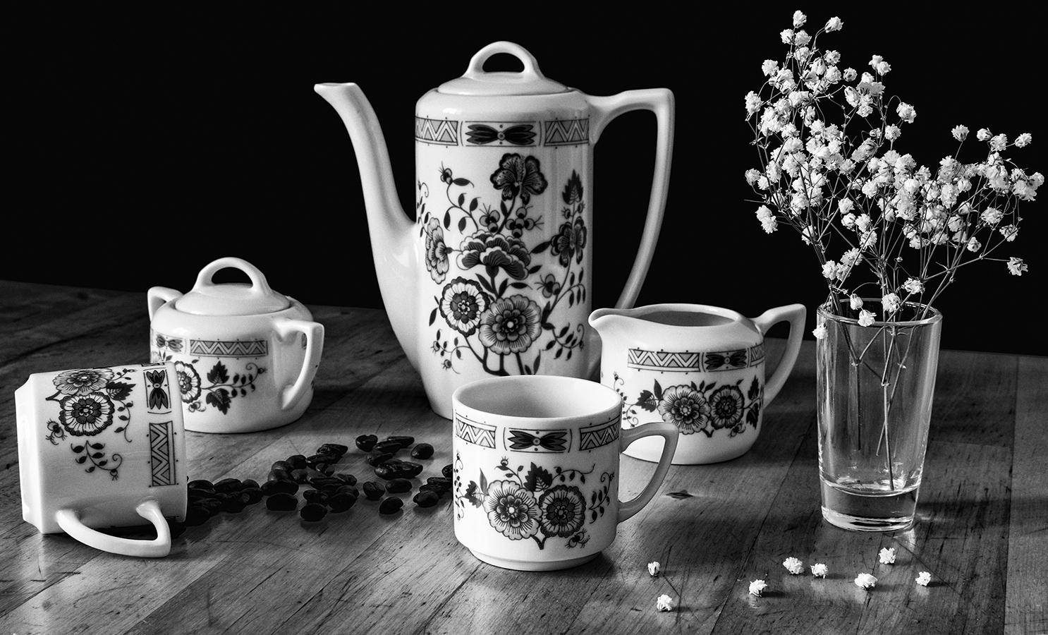 "photo ""***"" tags: still life, black&white, bw, Кофе, чашка"