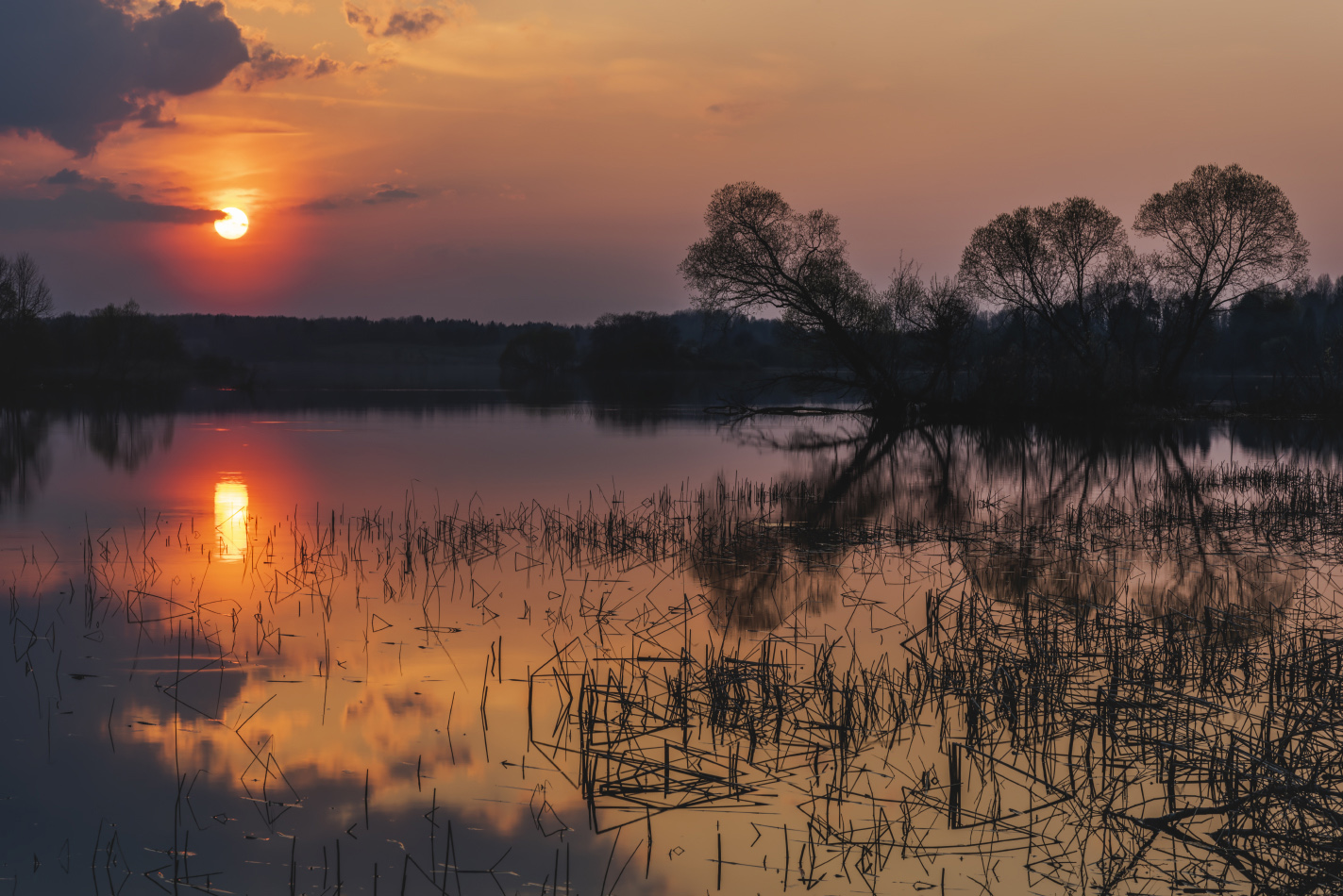 "photo ""***"" tags: landscape, evening, lake, sunset"