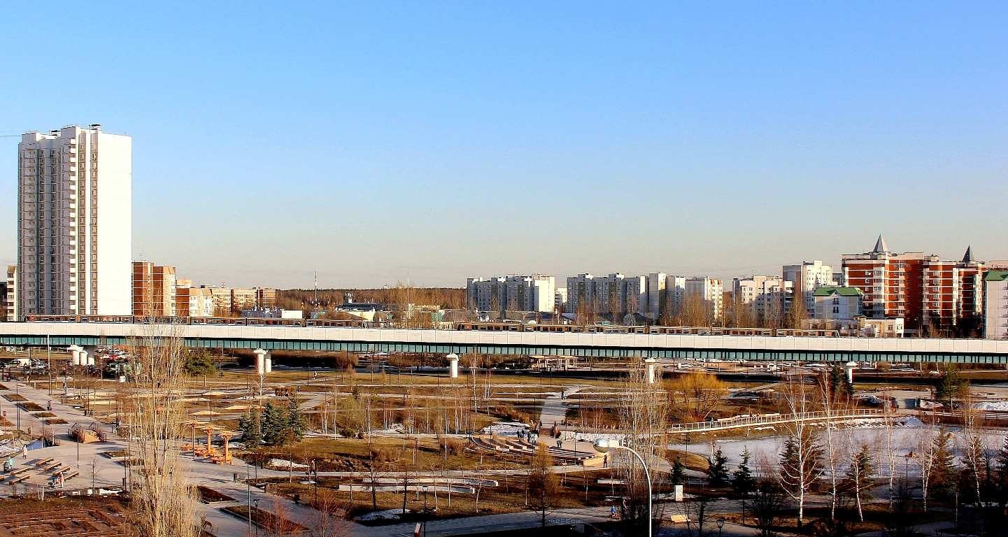 """photo """"Moscow. .. immense..."""" tags: city, landscape, panoramic, Moscow, spring, sunset, сити"""